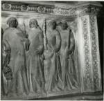 Agostino di Giovanni ; Agnolo di Ventura , Chierici officianti le esequie, Motivi decorativi a cassettoni