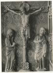 Bertram von Minden (P) , Cristo crocifisso tra la Madonna addolorata e san Giovanni Evangelista dolente